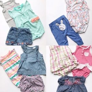 6-9 Month Infant Baby Girl Lot Of Clothing